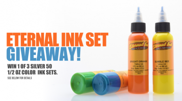 Enter to Win 1 of 3 Eternal Ink Silver 50 Sets.