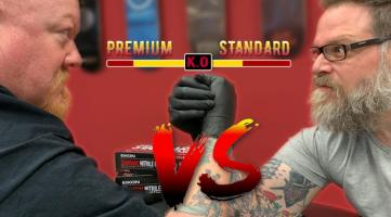 Standard vs. Premium Eikon Tattoo Gloves
